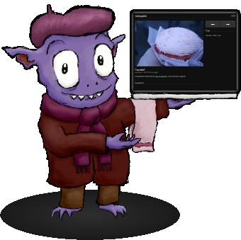 Trasgo mascota de mediagoblin